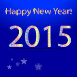 2015-guten Rutsch ins Neue Jahr-Grußkarte Hintergrundvektor ENV 10 Stockfotografie