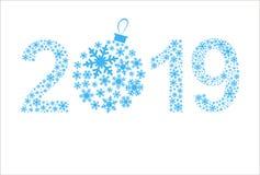 Guten Rutsch ins Neue Jahr-Grußkarte 2019 Weihnachtsschöner Hintergrund stockfotos