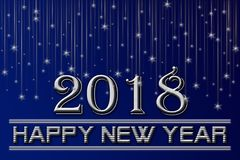 2018-guten Rutsch ins Neue Jahr-Hintergrund Lizenzfreies Stockfoto