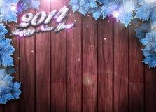 2014-guten Rutsch ins Neue Jahr-Hintergrund Stockbild