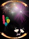 Guten Rutsch ins Neue Jahr-Hintergrund 2014 Lizenzfreie Stockfotos