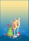 Guten Rutsch ins Neue Jahr-Hintergrund Lizenzfreie Stockbilder