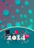 Guten Rutsch ins Neue Jahr-Hintergrund Lizenzfreies Stockfoto