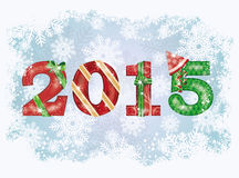 2015-guten Rutsch ins Neue Jahr-Hintergrund Stockfotos