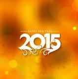 Guten Rutsch ins Neue Jahr-Hintergrund 2015 lizenzfreie abbildung