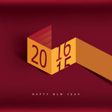 Guten Rutsch ins Neue Jahr-Hintergrund 2016 Lizenzfreie Stockbilder