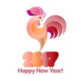 Guten Rutsch ins Neue Jahr-Hintergrund 2017 Lizenzfreies Stockfoto