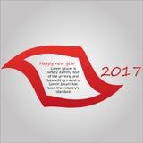 Guten Rutsch ins Neue Jahr-Hintergrund 2017 Stockfotografie