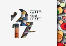 Guten Rutsch ins Neue Jahr-Hintergrund 2017 lizenzfreie abbildung