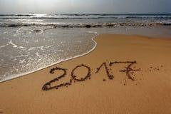 Guten Rutsch ins Neue Jahr 2017, Hintergrund Stockfotografie