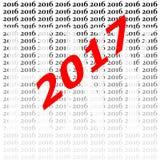 2017-guten Rutsch ins Neue Jahr-Hintergrund Lizenzfreie Stockfotografie