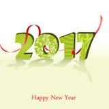 Guten Rutsch ins Neue Jahr-Hintergrund 2017 Auch im corel abgehobenen Betrag vektor abbildung