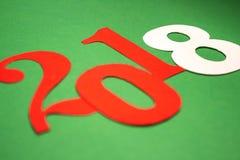 Guten Rutsch ins Neue Jahr-Hintergrund 2018 in der Papierart Lizenzfreies Stockbild