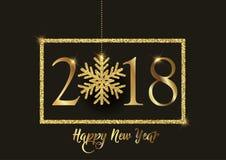 Guten Rutsch ins Neue Jahr-Hintergrund mit glittery Schneeflocke Lizenzfreies Stockfoto