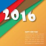 2016-guten Rutsch ins Neue Jahr-Hintergrund Vektor Stockfoto