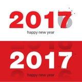 Guten Rutsch ins Neue Jahr-Hintergrundjahr 2017 des Hahns ENV Stockfoto