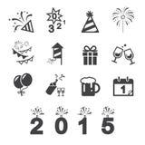 Guten Rutsch ins Neue Jahr-Ikone Stockfotos