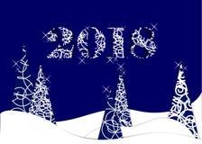 Guten Rutsch ins Neue Jahr, 2018, Illustration der frohen Weihnachten Lizenzfreie Stockfotografie