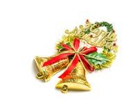 Guten Rutsch ins Neue Jahr im goldenen Ballspielzeug Lizenzfreie Stockfotografie