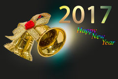 Guten Rutsch ins Neue Jahr 2017-jährig auf festlichem Hintergrund der abstrakten Unschärfe Lizenzfreies Stockfoto