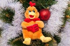 Guten Rutsch ins Neue Jahr, Jahr des Hahns Stockfotos