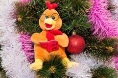 Guten Rutsch ins Neue Jahr, Jahr des Hahns Lizenzfreie Stockfotografie