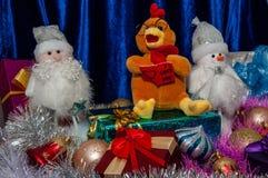 Guten Rutsch ins Neue Jahr, Jahr des Hahns Stockfoto