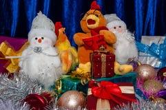 Guten Rutsch ins Neue Jahr, Jahr des Hahns Stockfotografie