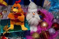 Guten Rutsch ins Neue Jahr, Jahr des Hahns Lizenzfreies Stockfoto