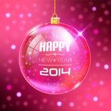 Guten Rutsch ins Neue Jahr-Karte mit Glaskugel Stock Abbildung