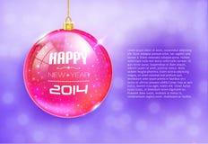 Guten Rutsch ins Neue Jahr-Karte mit Glaskugel Vektor Abbildung