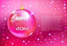 Guten Rutsch ins Neue Jahr-Karte mit Glaskugel Lizenzfreie Abbildung