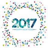 Guten Rutsch ins Neue Jahr-Karten-Design Lizenzfreie Stockfotografie