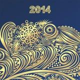 Guten Rutsch ins Neue Jahr-Kartenillustration Stockfotos