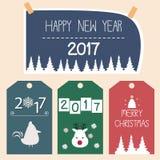 Guten Rutsch ins Neue Jahr-Kartenvektor Stockfotos