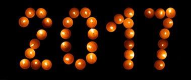 Guten Rutsch ins Neue Jahr 2017 - Kerzen Lizenzfreies Stockbild
