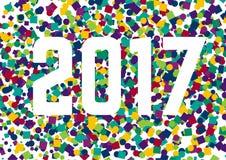 Guten Rutsch ins Neue Jahr-Konfettis 2017 Lizenzfreie Stockfotografie