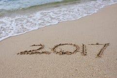 Guten Rutsch ins Neue Jahr-Konzept 2017 Lizenzfreies Stockbild