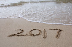 Guten Rutsch ins Neue Jahr-Konzept 2017 Lizenzfreie Stockfotos