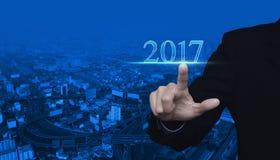 Guten Rutsch ins Neue Jahr-Konzept 2017 Lizenzfreies Stockfoto
