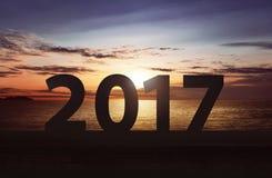 Guten Rutsch ins Neue Jahr-Konzept 2017 Stockfoto