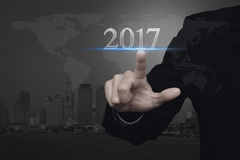 Guten Rutsch ins Neue Jahr-Konzept, Elemente dieses Bildes geliefert von der NASA Lizenzfreies Stockbild