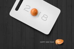 2018 guten Rutsch ins Neue Jahr-Konzept-Reihe Lizenzfreie Stockbilder