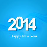 Guten Rutsch ins Neue Jahr 2014 kreatives blaues buntes backgro Lizenzfreies Stockbild