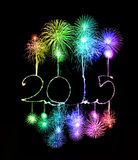 Guten Rutsch ins Neue Jahr - 2015 machten eine Wunderkerze Lizenzfreies Stockbild