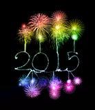 Guten Rutsch ins Neue Jahr - 2015 machten eine Wunderkerze Stockfotos