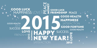 2015 guten Rutsch ins Neue Jahr, mehrsprachig Stockfotografie