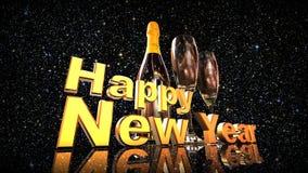 Guten Rutsch ins Neue Jahr mit Champagner Stockbild