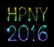 Guten Rutsch ins Neue Jahr 2016 mit Scheinfeuerwerk Stockfotos