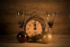 2017 guten Rutsch ins Neue Jahr mit Uhr Lizenzfreies Stockbild